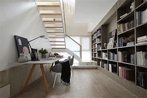 215㎡温馨现代跃层书房设计效果图