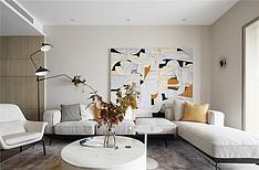 215㎡温馨现代跃层客厅设计布置效果图
