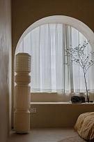 70平简约复古风卧室飘窗设计效果图