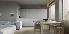 124㎡现代简约公寓设计效果图案例