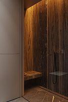 124㎡现代简约公寓主卫淋浴设计效果图