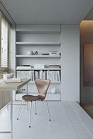 124㎡现代简约公寓书房设计效果图