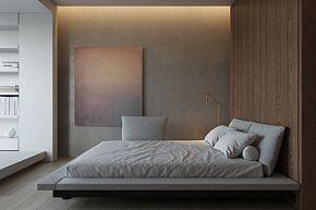 124㎡现代简约公寓卧室装修效果图