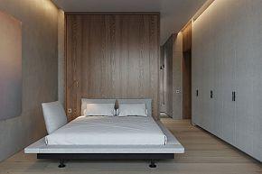 124㎡现代简约公寓卧室衣柜设计效果图