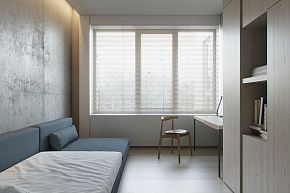 124㎡现代简约公寓次卧装修布置效果图