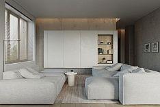 124㎡现代简约公寓客厅装修效果图