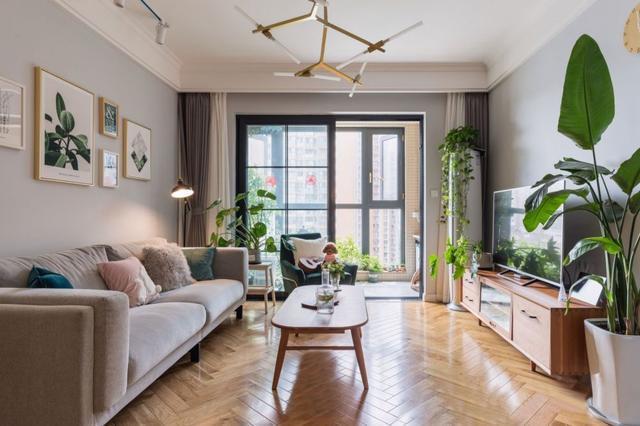 88㎡舒适北欧3室2厅 一屋子的绿植好清新