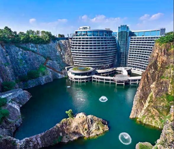 房似锦推荐的地下17层豪宅 竟是上海深坑酒店 装修奢华