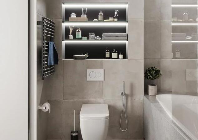 卫生间的壁龛设计 有格调又能收纳