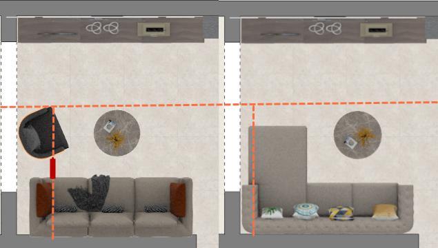 客厅沙发摆放是选L型还是3+1布置