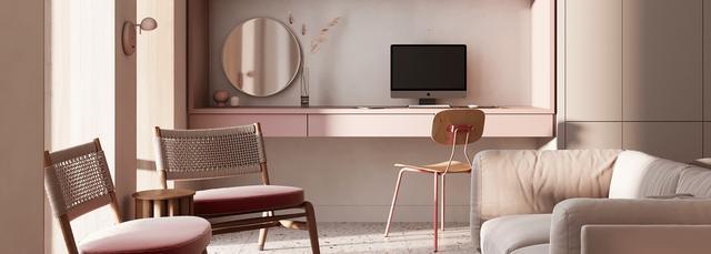 粉色与纯色系的室内设计 太甜蜜温馨了