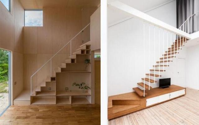 楼梯也设计得这么有创意 竟然悬挂在天花板上