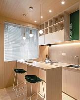 25㎡现代风阁楼小公寓吧台式餐厅设计效果图