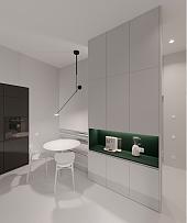 110㎡时尚现代公寓餐厅布置设计效果图