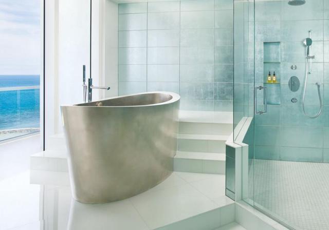 第一次见不锈钢浴缸 自带座位还耐用20年