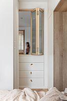 65㎡舒适现代风卧室折叠窗设计效果图
