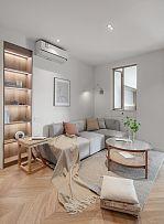 65㎡舒适现代风沙发背景墙装饰效果图