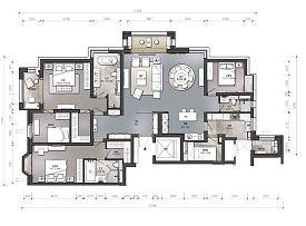 240㎡欧式豪宅平面布置图