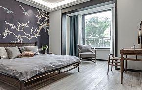 87㎡古典新中式卧室装修效果图