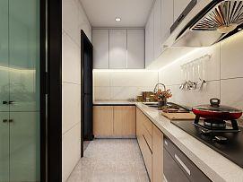 115㎡北欧风厨房内部橱柜设计效果图