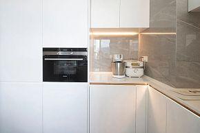140㎡极简风厨房装修设计效果图