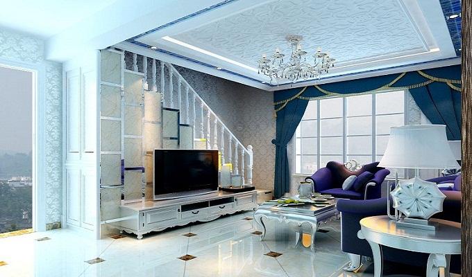 客厅楼梯电视背景墙要怎么设计才好看呢? - 装修保障网