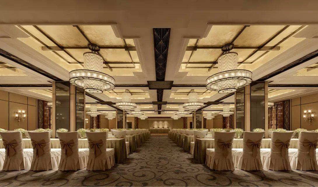 酒店宴会厅吊顶装修效果图