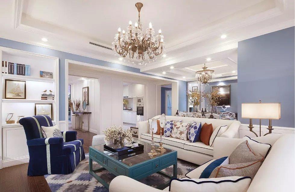 美式简约风格客厅装修图