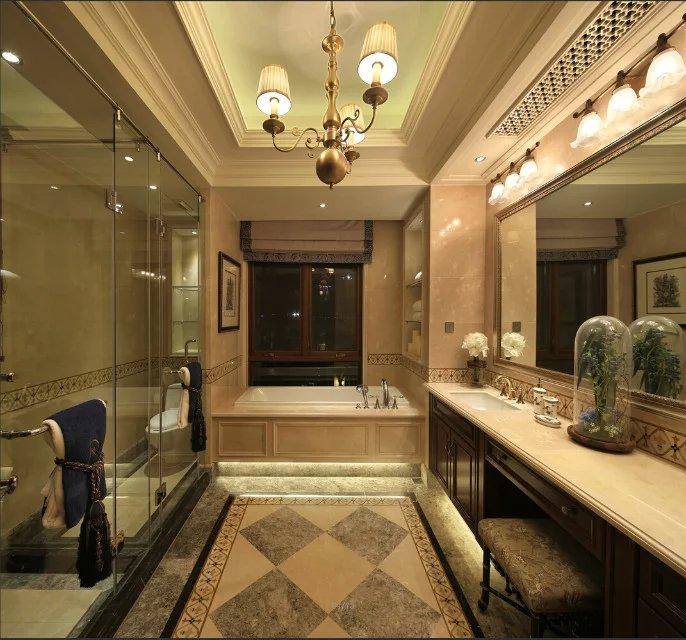 美式风格浴室吊顶装修效果图_装修图片-保障网装修