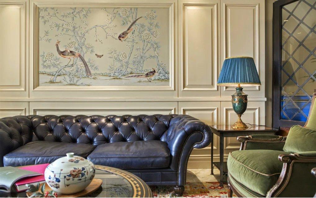 美式风格客厅沙发背景墙挂图_装修图片-保障网装修图片