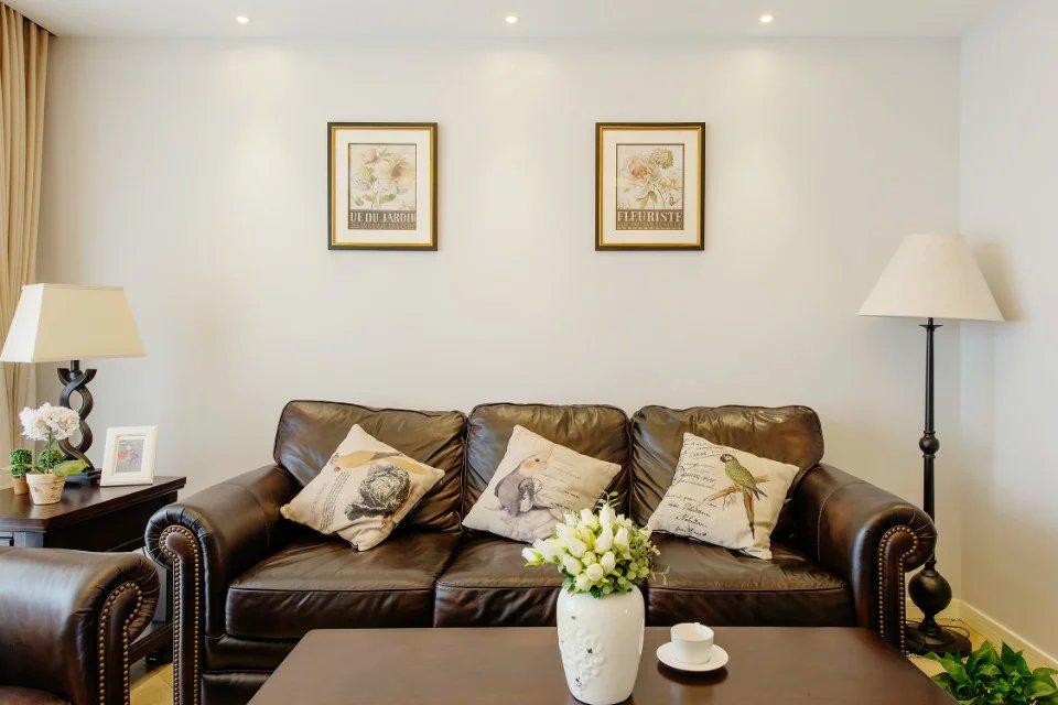 美式客厅沙发背景墙画框图片图片