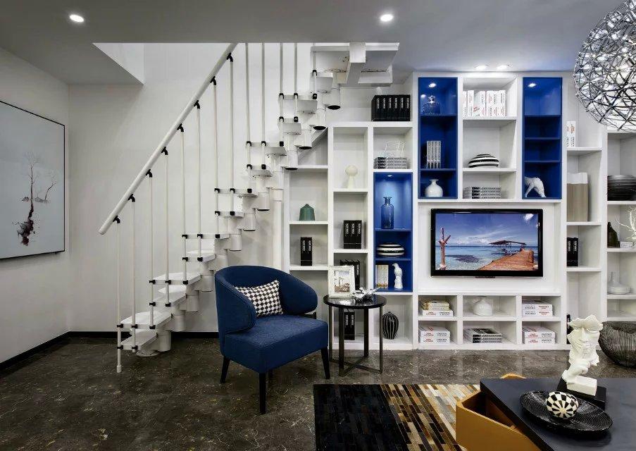 简约风格客厅楼梯设计图