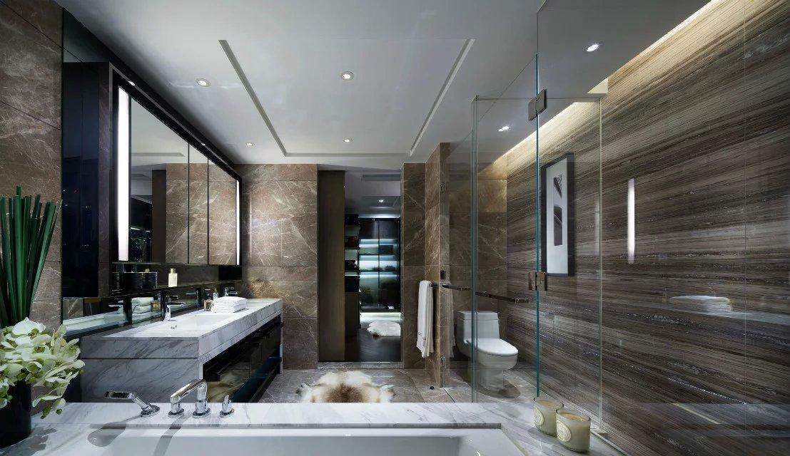 98平现代样板房装修效果图高清图片