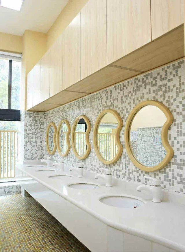 幼儿园卫生间洗手台装修图片