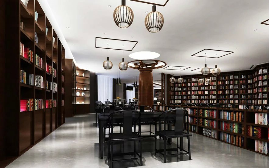 香山书屋大厅装修设计效果图