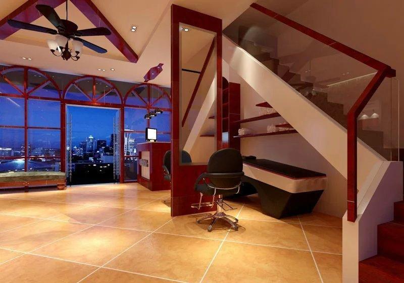 理发店楼梯室内装修效果图