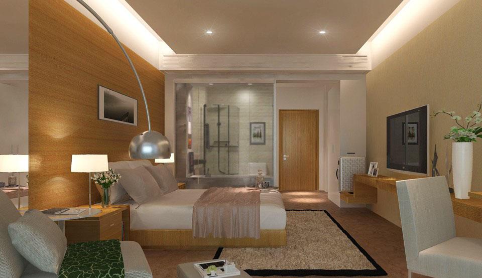 客房卫生间 现代宾馆简单装修效果图