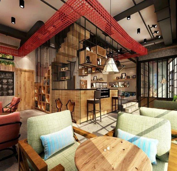 咖啡厅吧台吊灯设计效果图