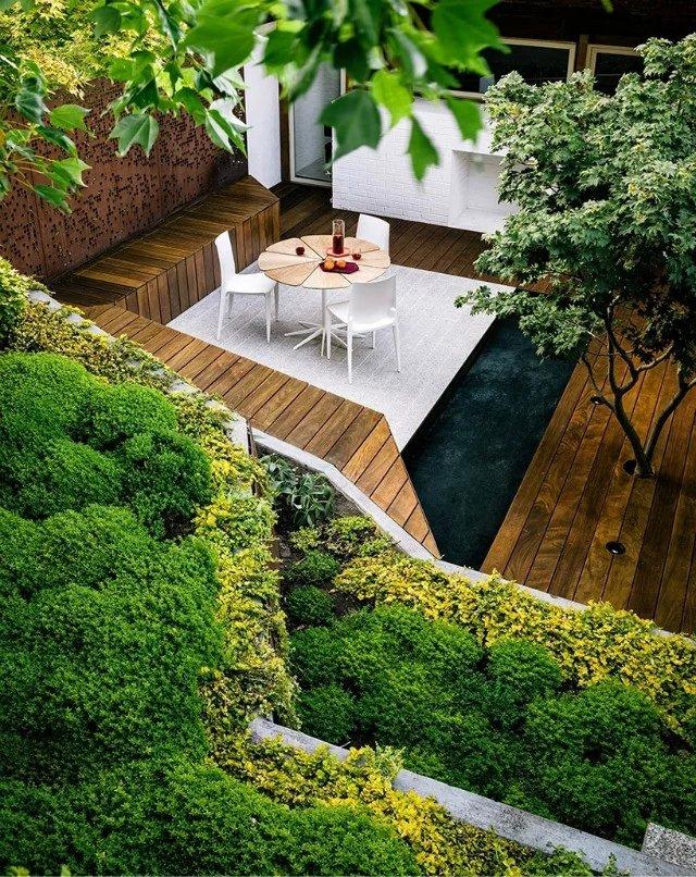 陡坡景观餐桌设计