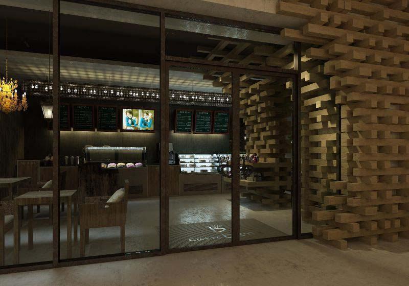 咖啡店门装修效果图
