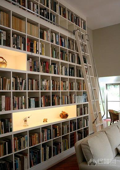 阅览室书柜书架图片