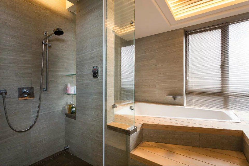 86平新中式浴室装修效果图