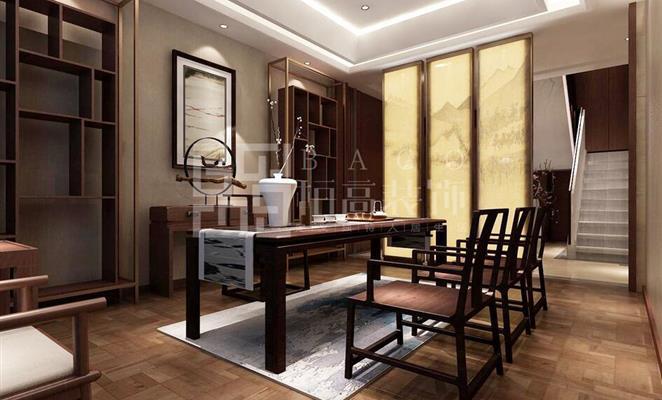 茶室壁纸贴图素材