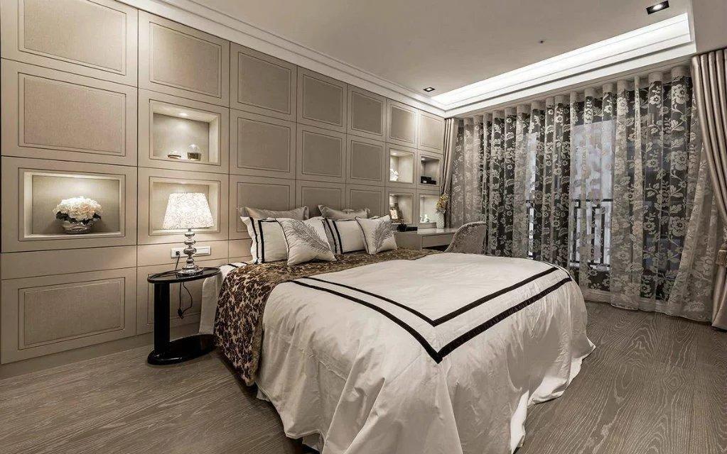 欧式风格卧室窗帘样板间装修