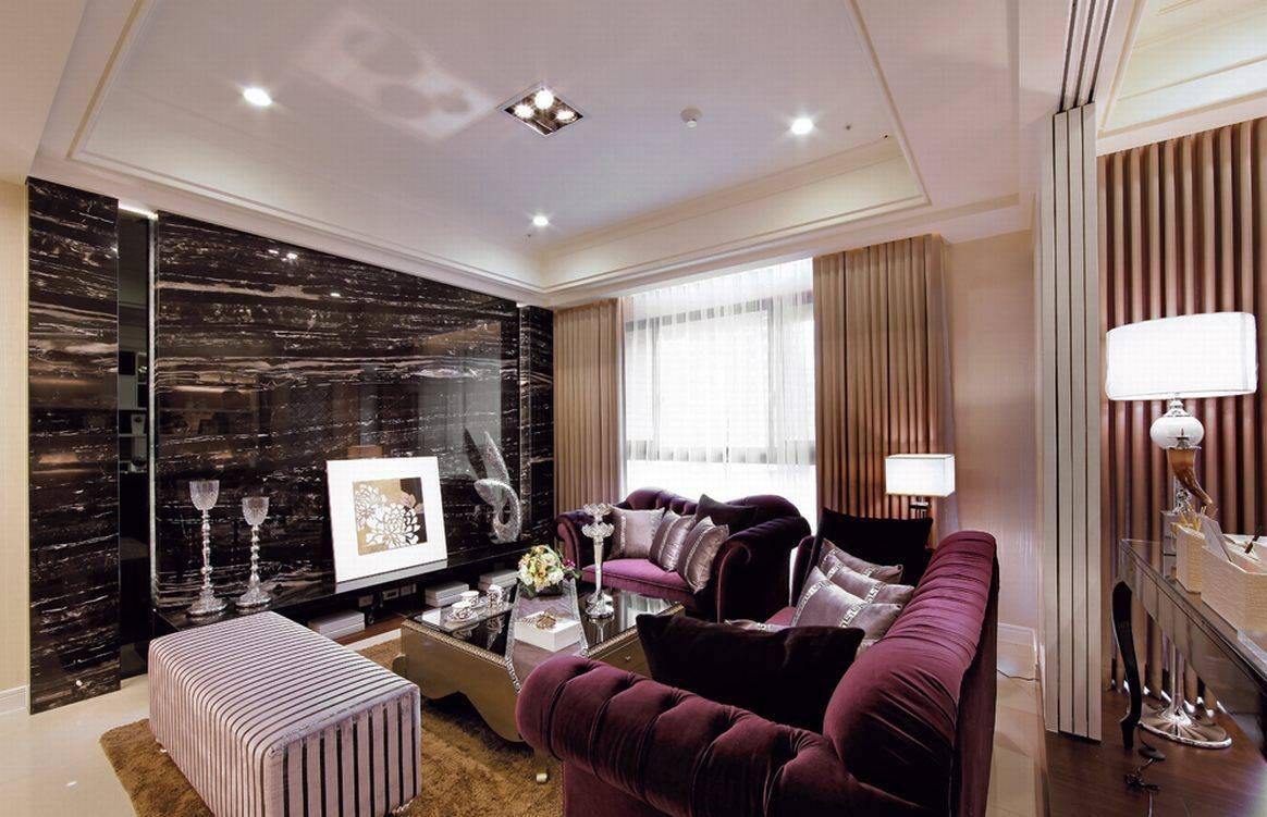 欧式客厅吊顶电视墙装修设计