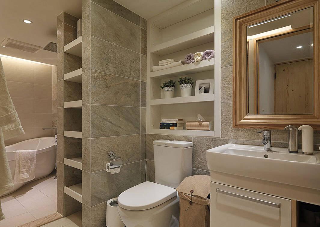 现代简约风格卫生间瓷砖装修设计