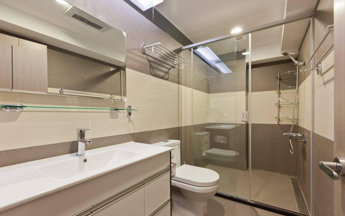 现代简约卫生间瓷砖效果图欣赏