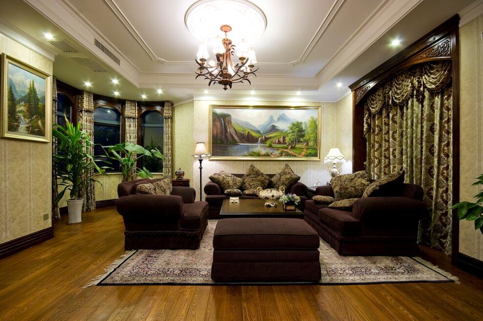120休闲美式风格装修客厅效果图
