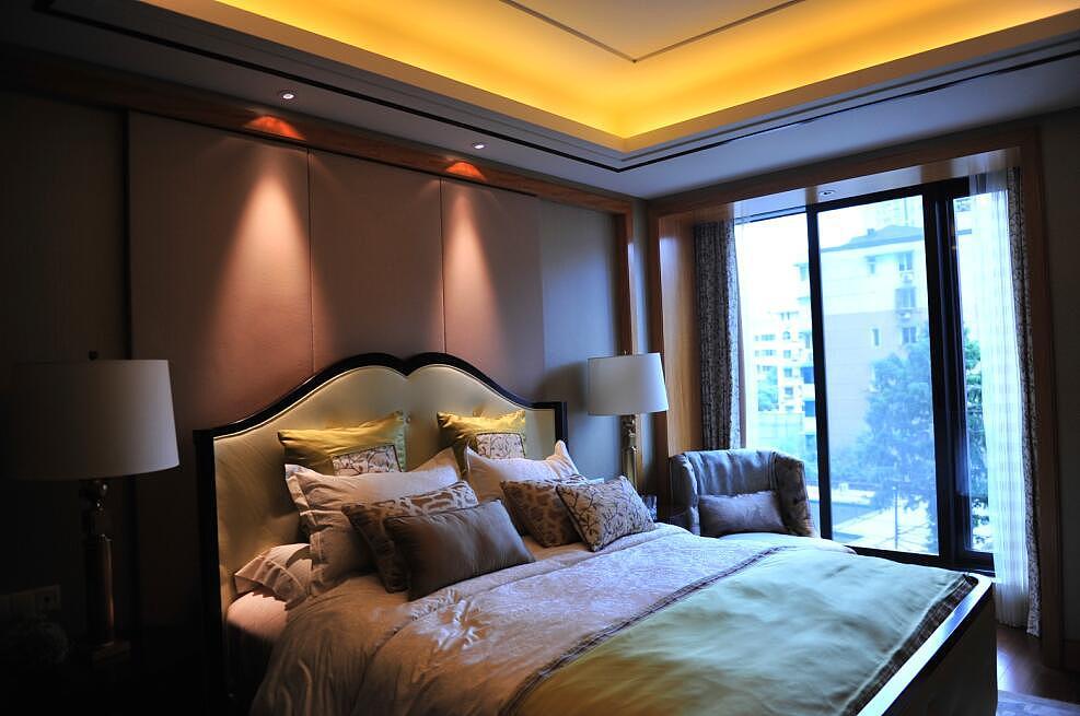 120平米欧式田园风格装修卧室效果图图片