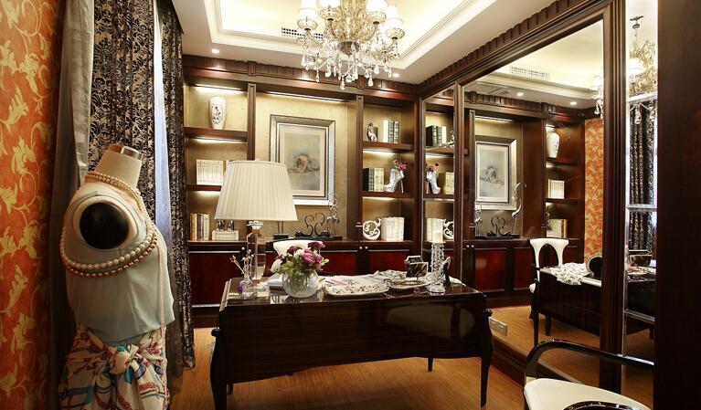 欧式豪华古典装修书房图片图片